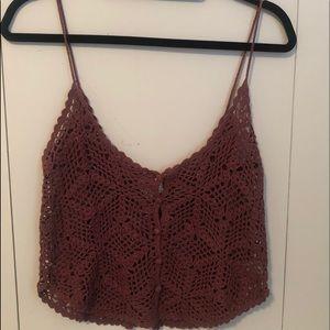Pacsun crochet crop-ish top